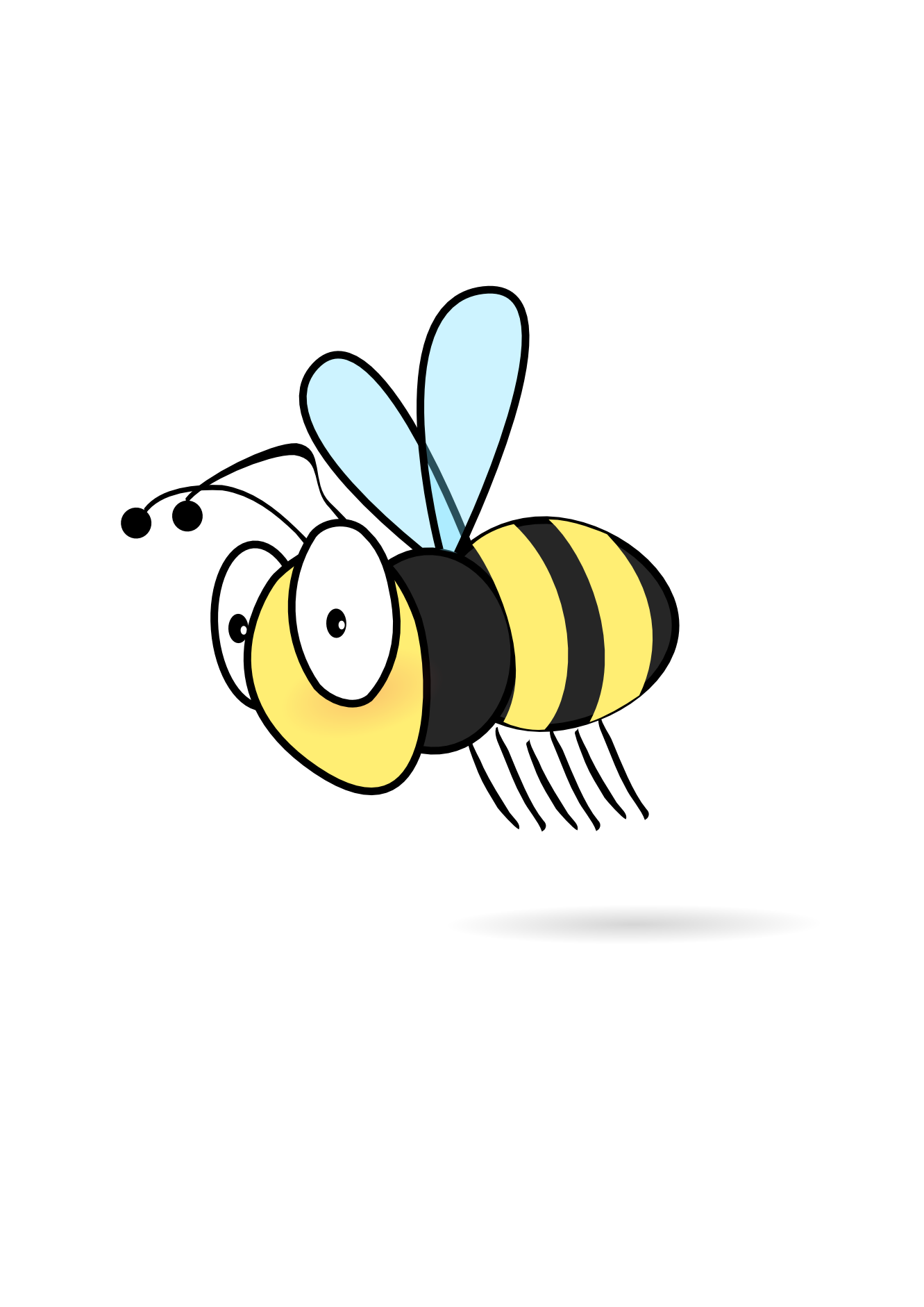 clipart transparent stock Flying Bee Clipart