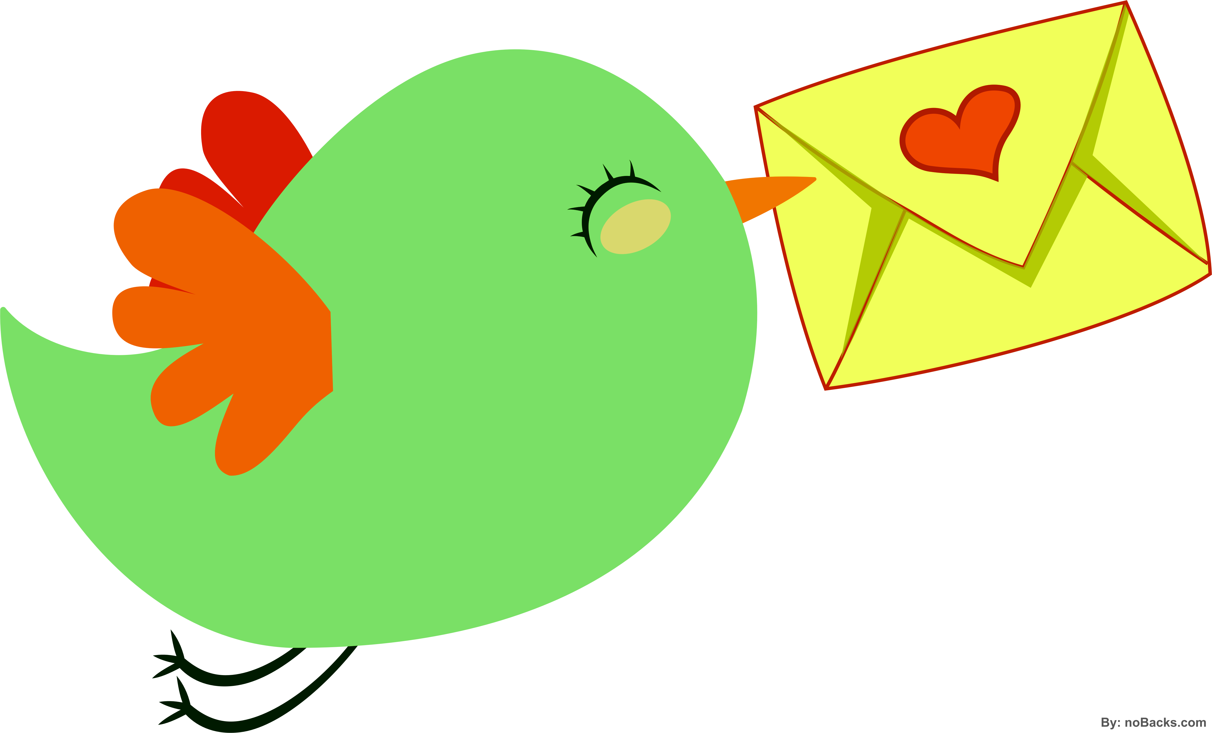 png Small bird with love. Valentine vector flying