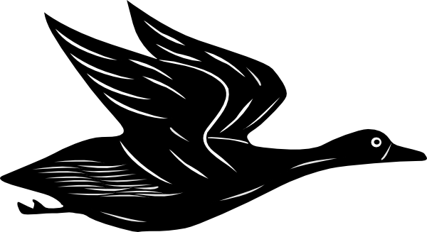 clip art black and white download Duck Flying Clip Art at Clker
