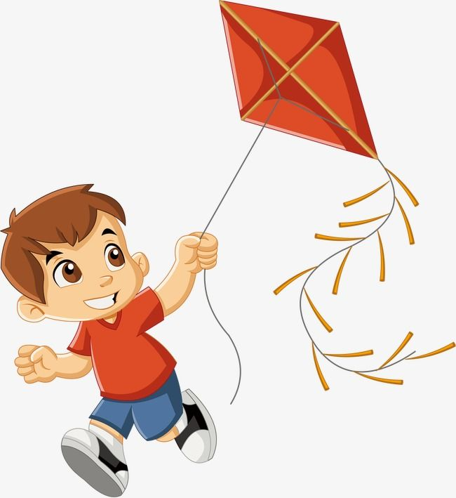 vector royalty free Flying kite clipart. Children playing outside cartoon