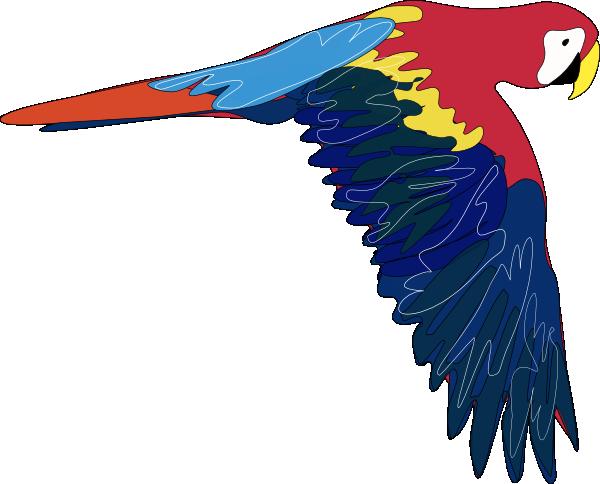 banner Flying Parrot Clipart