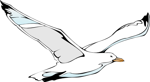 clipart free library Flying Sea Gull Clip Art at Clker