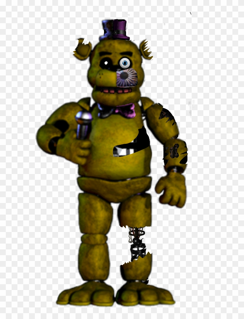 svg royalty free stock fnaf Stylized Withered Golden Freddy