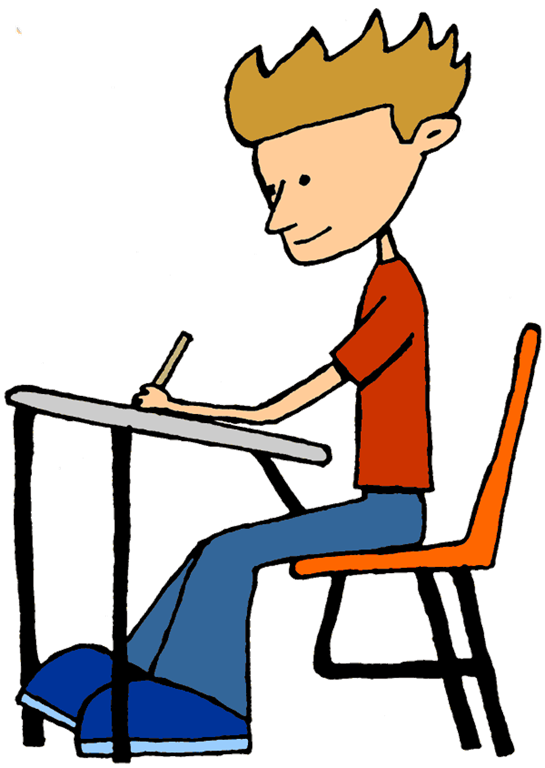 clipart black and white Focus Student Clipart