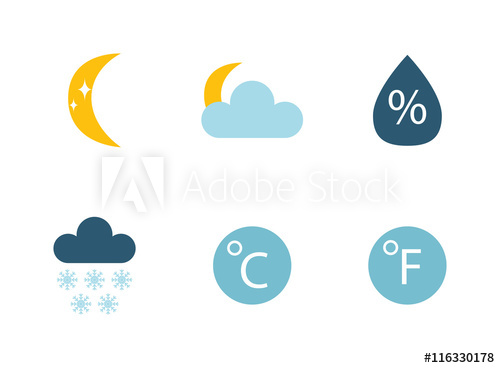 graphic transparent stock Weather icons thin line. Fog clipart cold cloud.