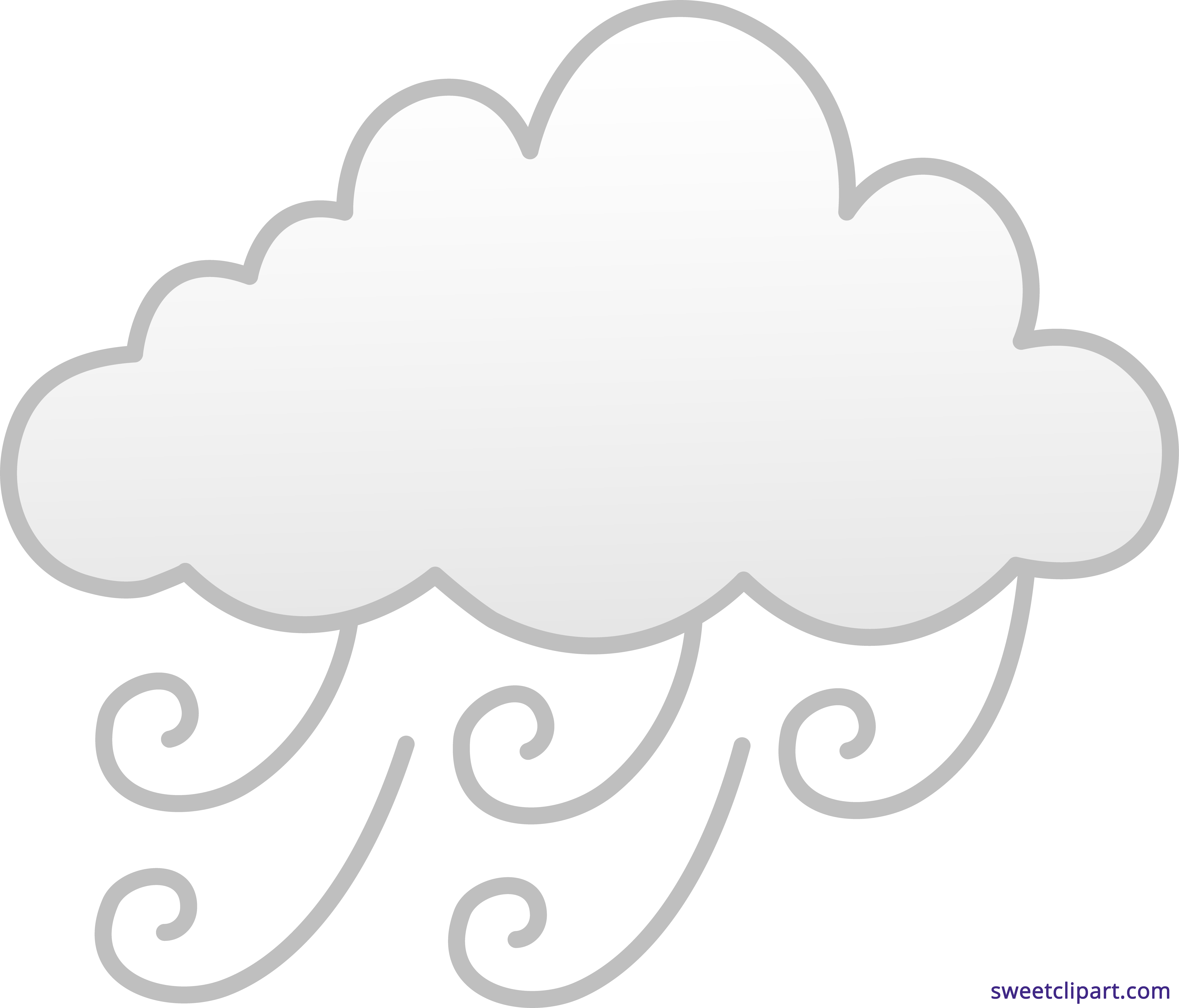 picture library download Windy or foggy sweet. Weather clipart black and white