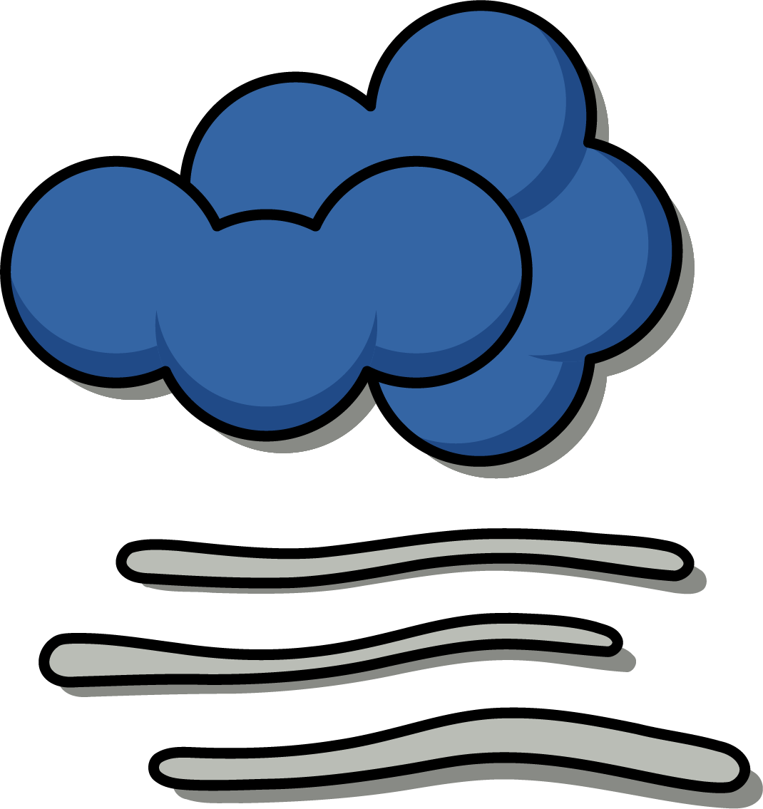 black and white Fog clipart weather pattern. Cloud clip art foggy.