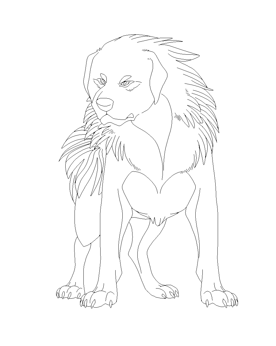 image black and white stock Free Tibetan dog lineart MS Paint by Roneri on DeviantArt