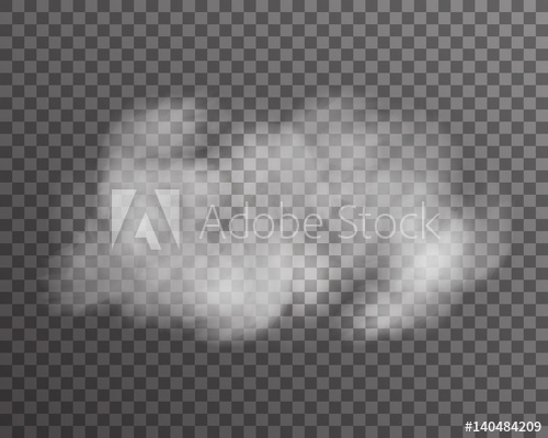 banner royalty free stock Realistic cloud smoke fog transparent background template