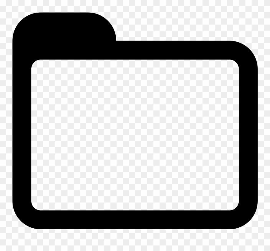 clip download Folder clipart. Black and white icon