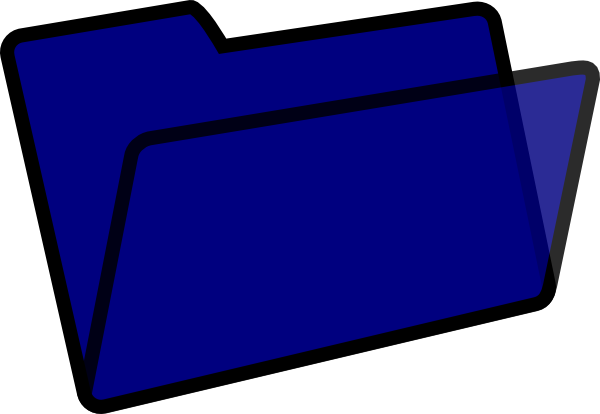 vector black and white download Dark Blue And Black Folder Clip Art at Clker
