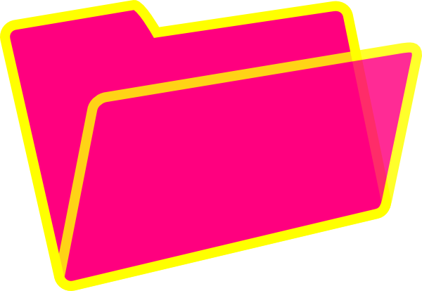 clipart freeuse Yellow And Pink Folder Clip Art at Clker