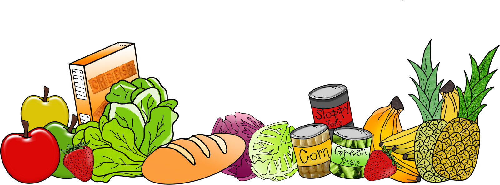 jpg black and white library Food borders clipart. The am teacher march