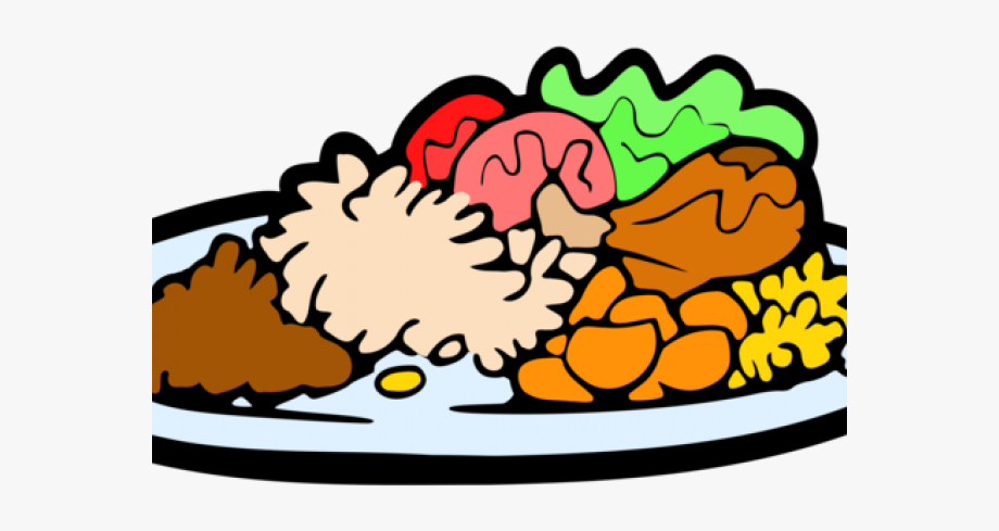 freeuse download Plate of transparent cartoon. Food clipart.