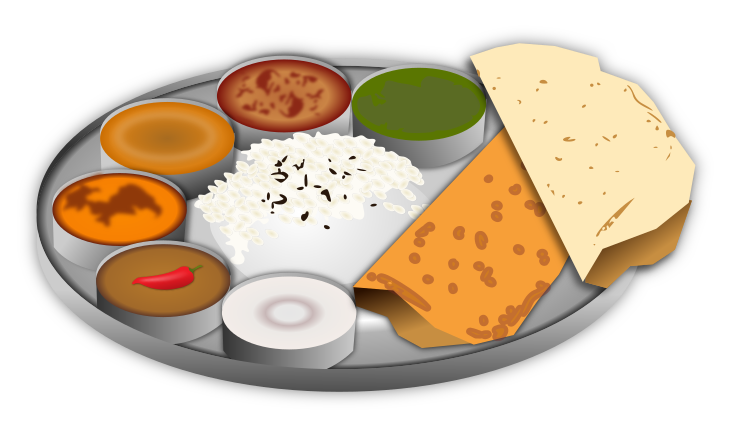 graphic freeuse download Indian . Food clipart