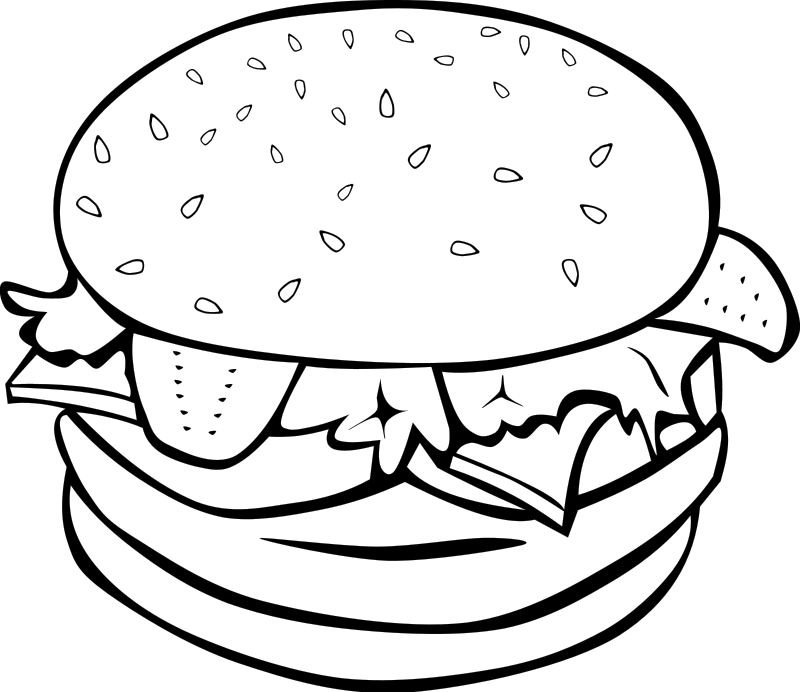 clip art library download Meal clipart black and white. Free food download clip.