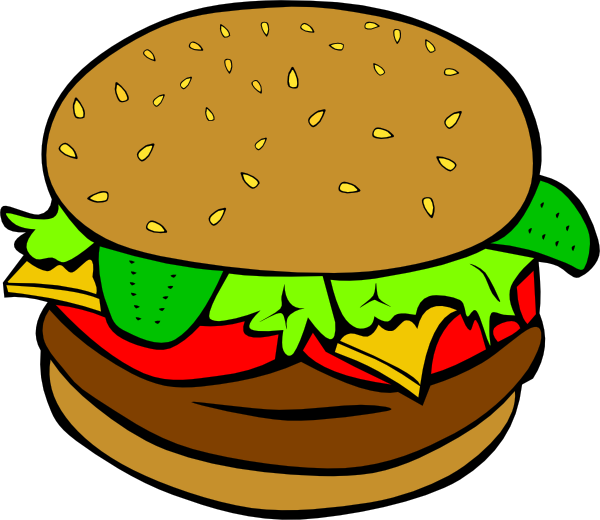 banner royalty free library Cheeseburger drawing cartoon. Chicken food clipart at