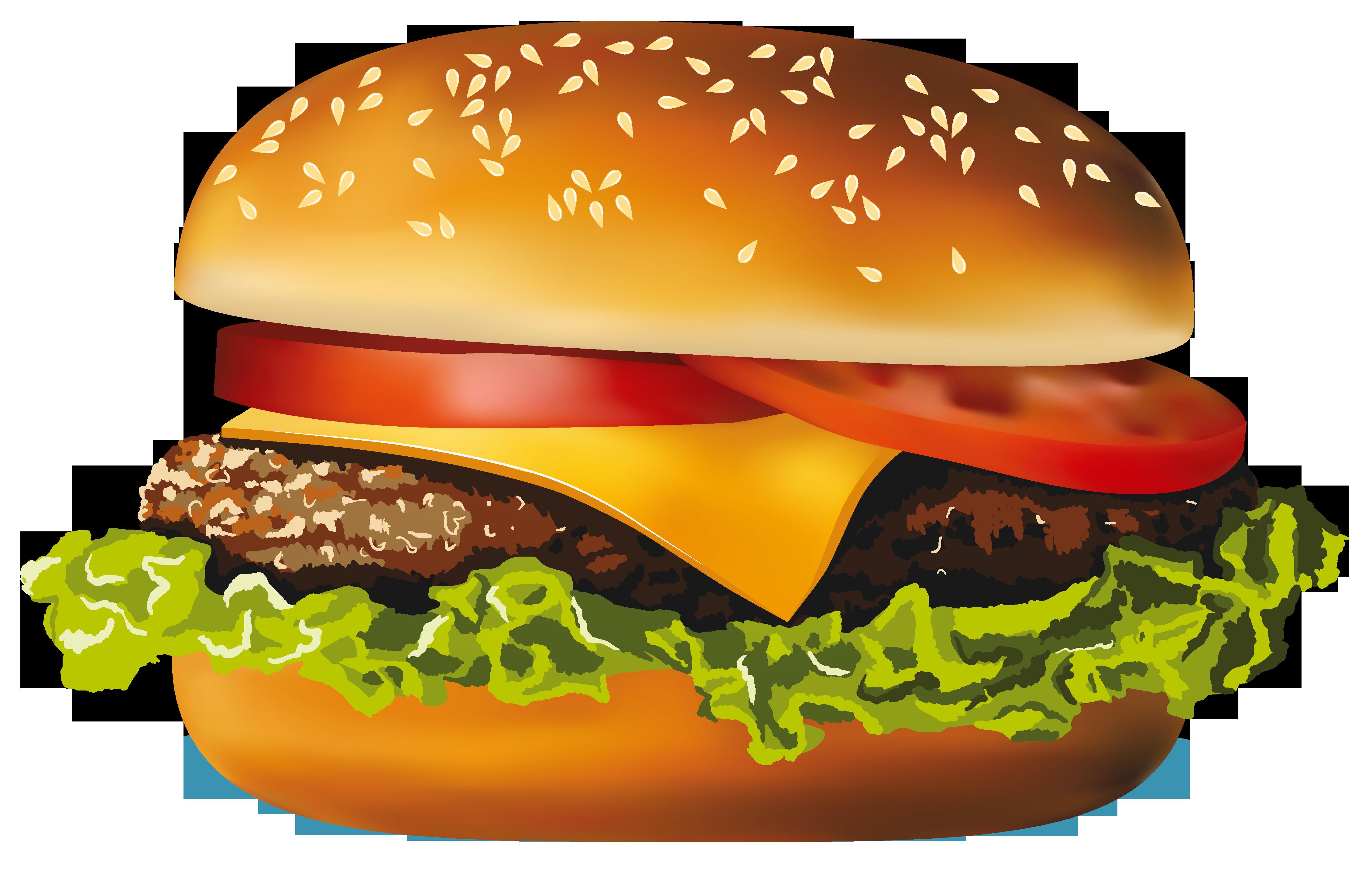 graphic Food clipart hamburger