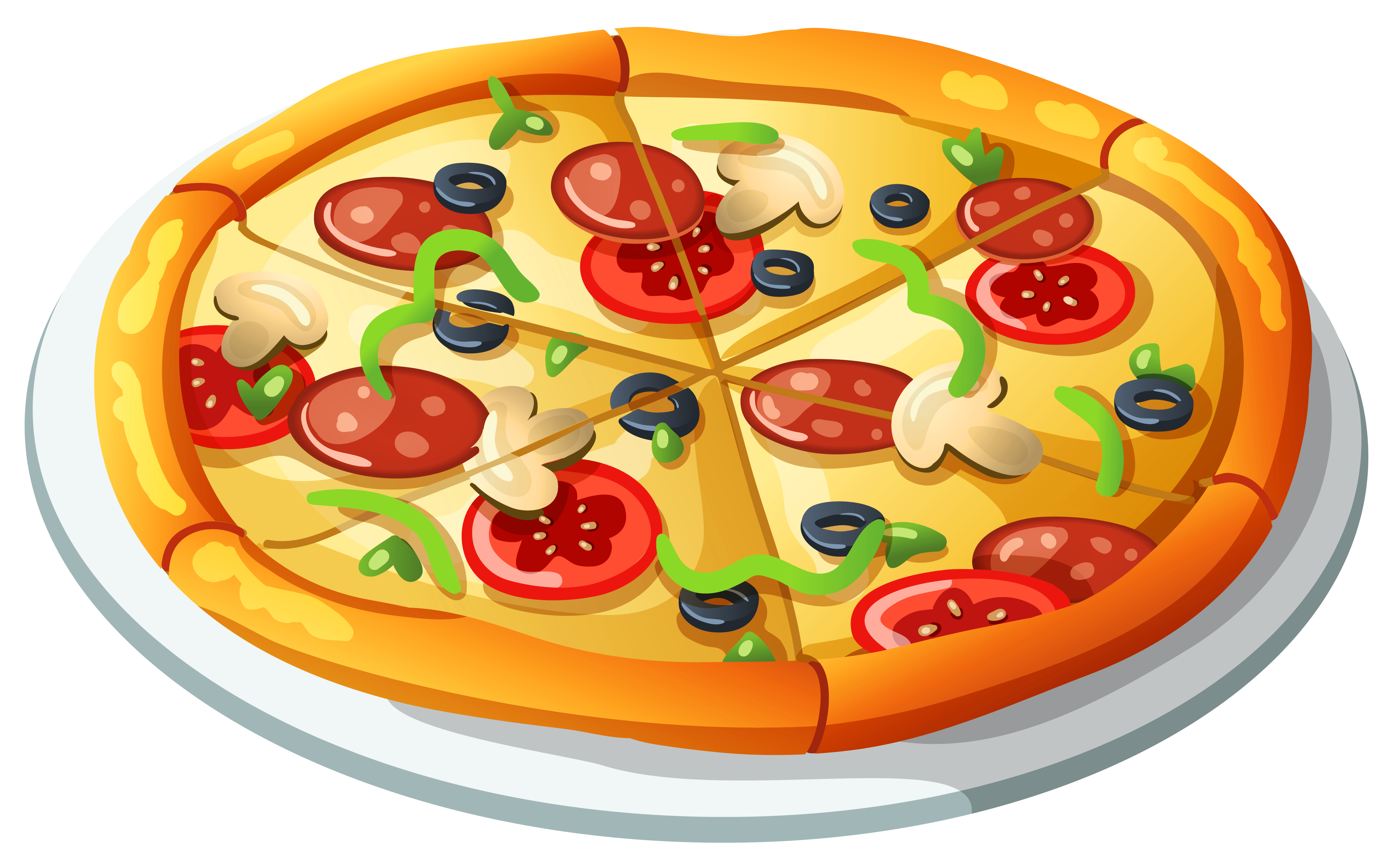 freeuse stock Pizza PNG Vector Clipart