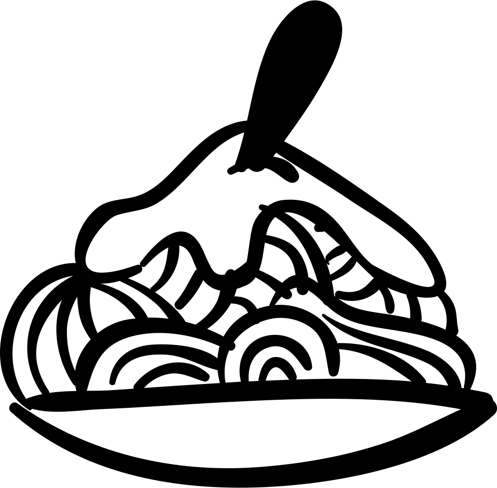 svg black and white download Plate of food at. Bean drawing side view