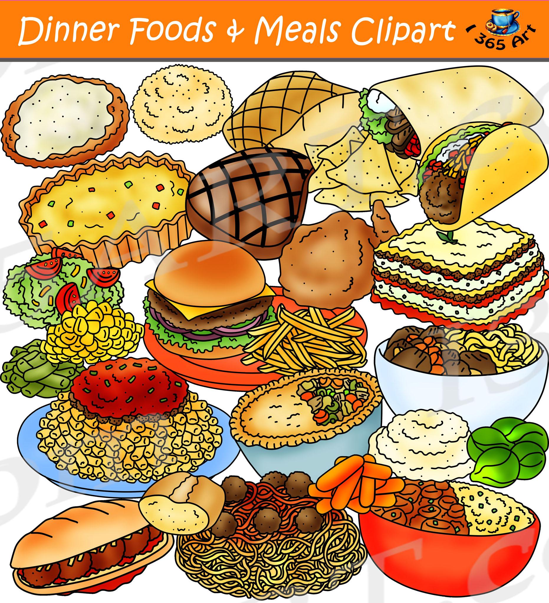 vector transparent Dinner meals download . Foods clipart.