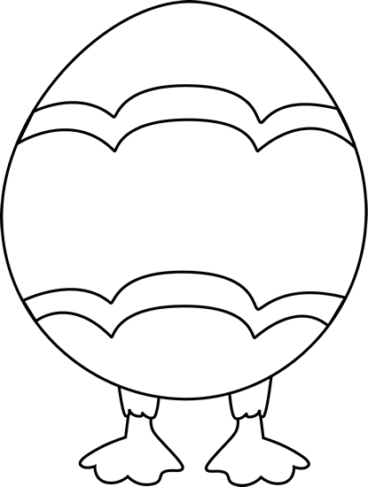 banner transparent library Easter egg with feet. Foot clipart black and white