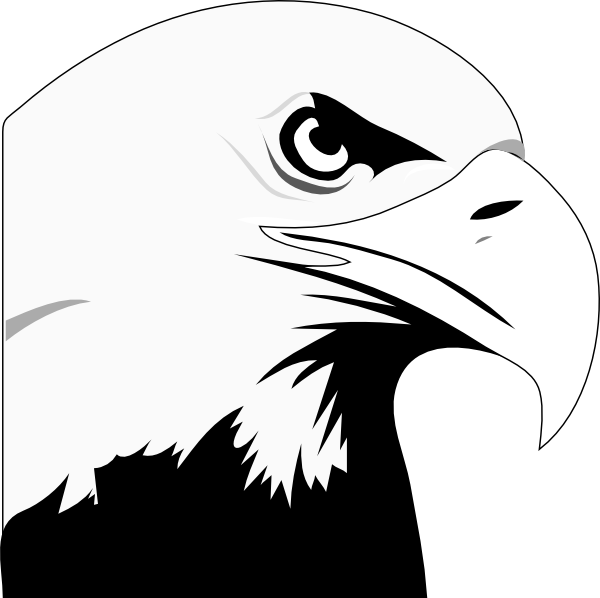 image royalty free library Clip art at clker. Eagle head clipart