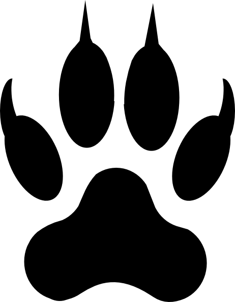 clip black and white download Lion clip art vector. Grizzly clipart bear footprint