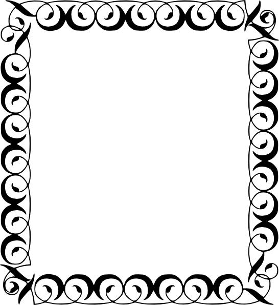vector black and white stock Christmas notes border panda. Music borders clipart
