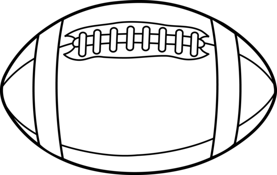 jpg black and white White . Football clipart.