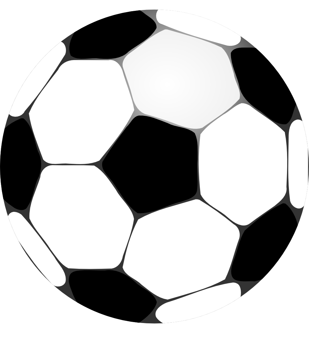 clip free stock Football panda free images. Sport balls clipart black and white