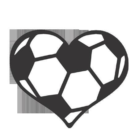 clip art Soccer ball decal per. Football heart clipart black and white