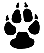 banner black and white stock Footprints Clipart rat