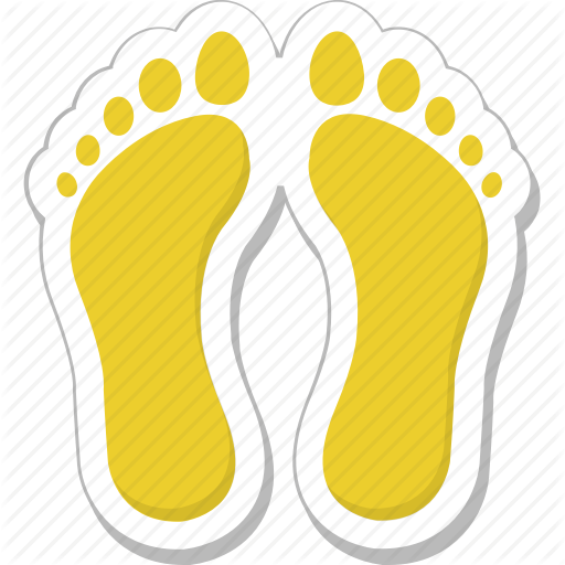 clip art free Summer and holidays by. Footsteps clipart human footprint