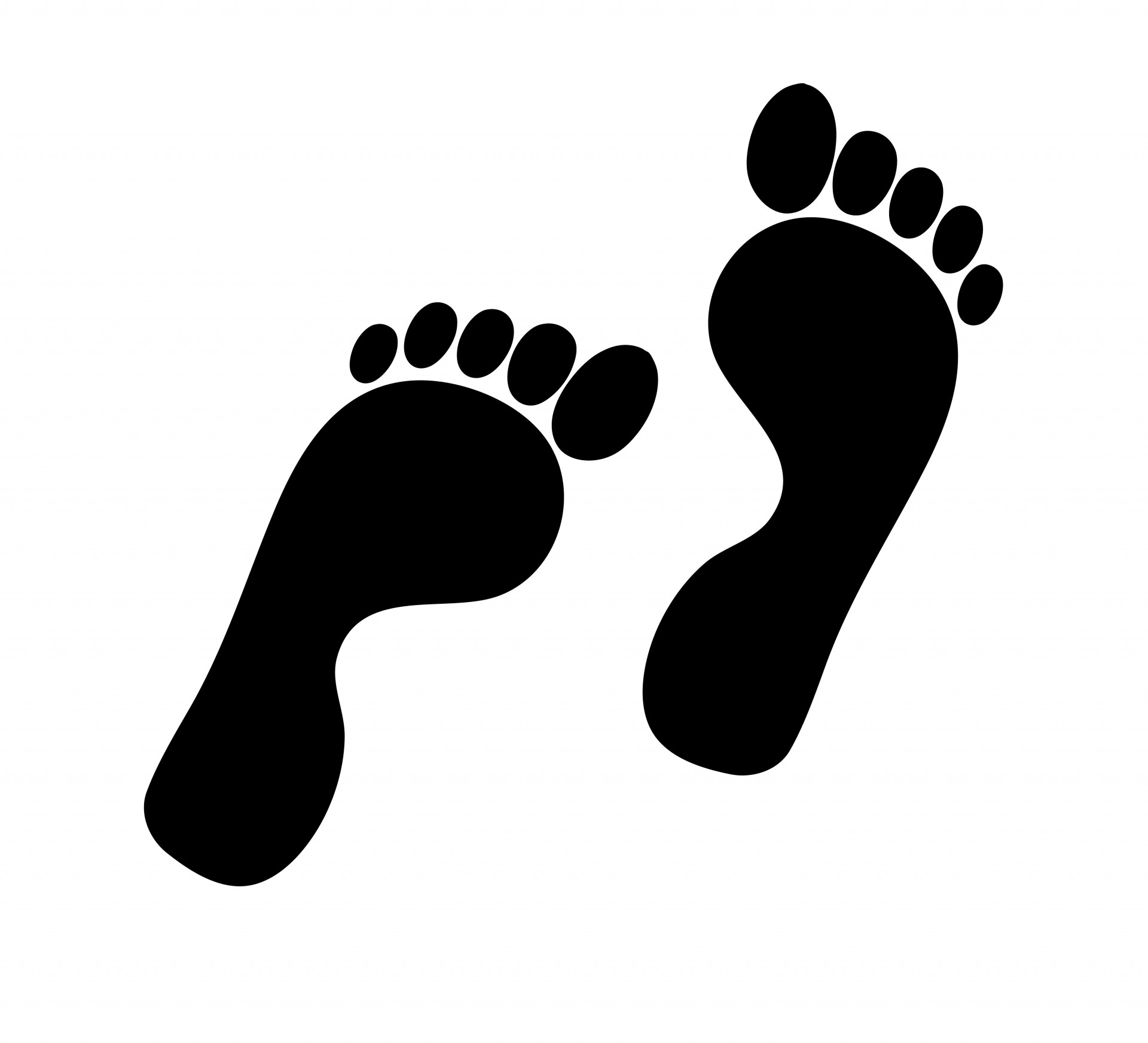 clipart free download Footstep silhouette at getdrawings. Steps clipart barefoot