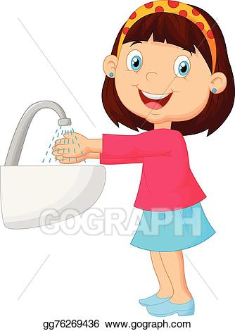 clip art library download Vector art cute cartoon. For her clipart washing
