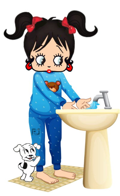 banner freeuse stock Hands betty boop pinterest. For her clipart washing
