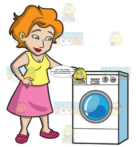 free stock For her clipart washing. A woman waits laundry