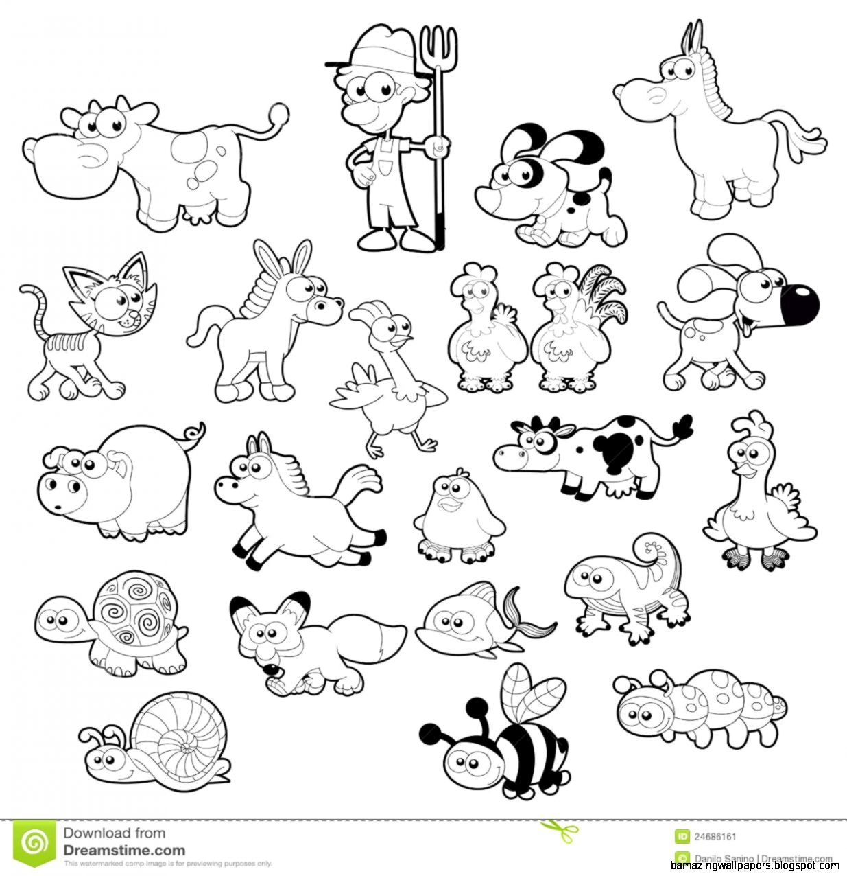 free download Free animals download . Forest animal clipart black and white