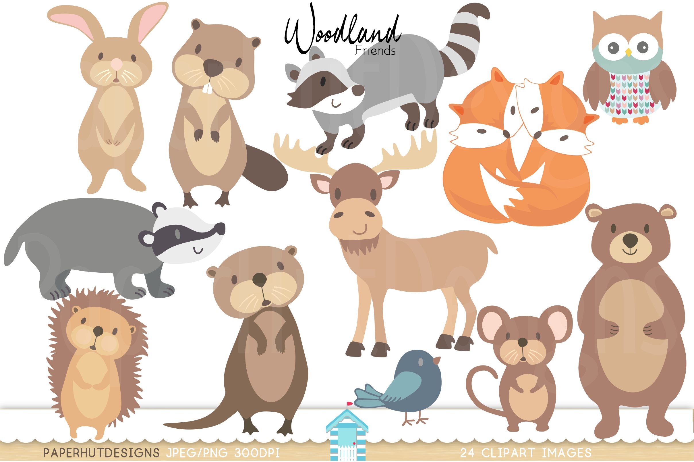svg royalty free Forest animal clipart. Woodland animals