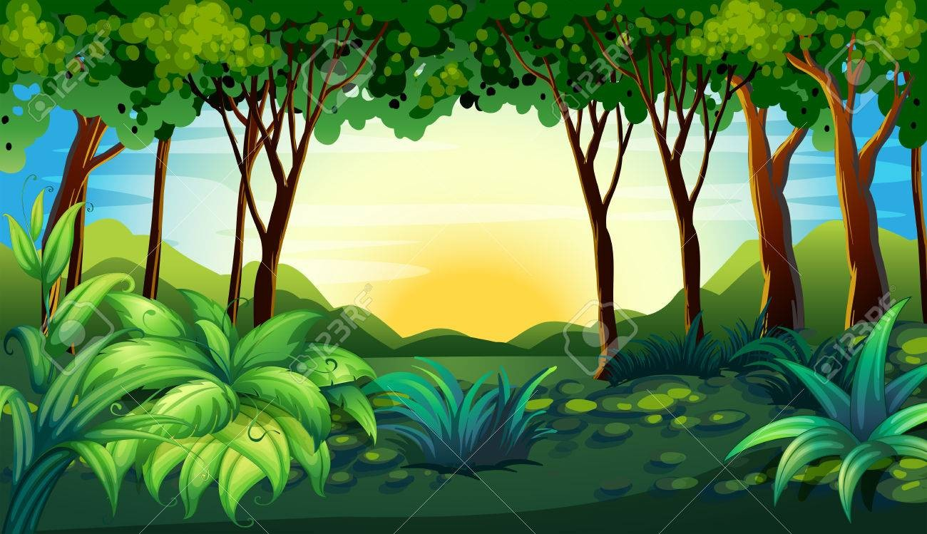 clip art free  illustration of a. Forest clipart
