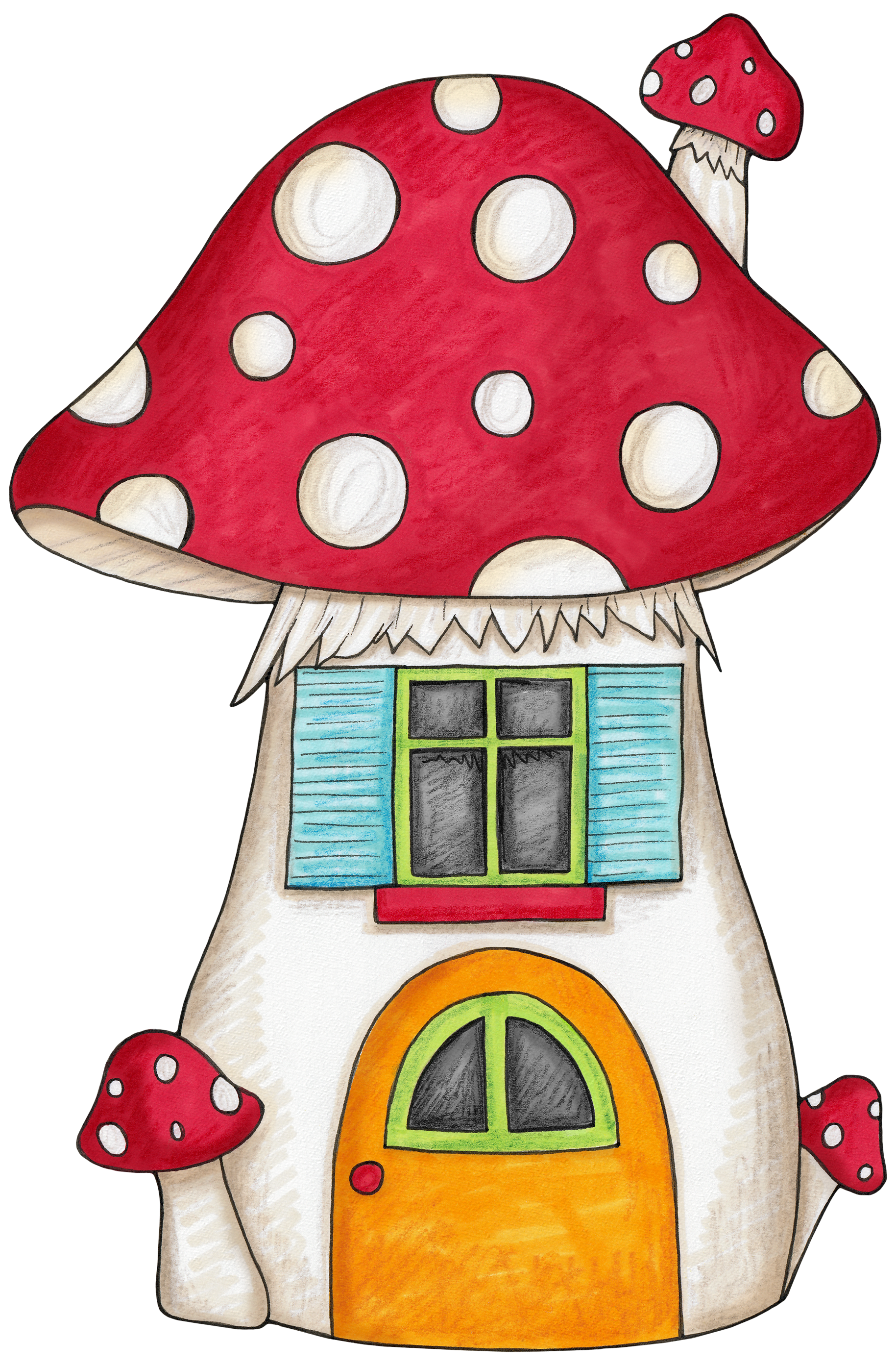 jpg freeuse stock Mushroom house for an. Gnome clipart enchanted