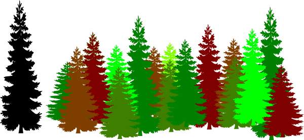 banner royalty free download Green Forest Trees Clipart