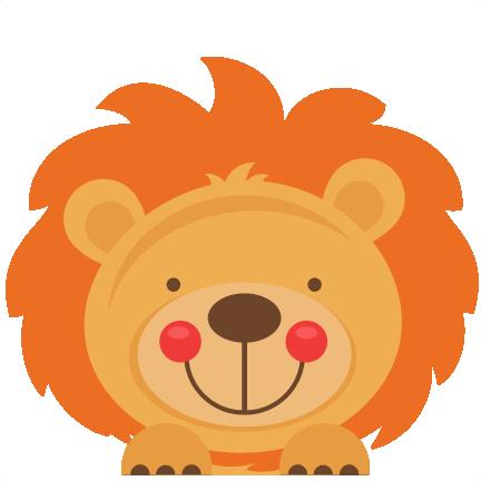 clip art transparent stock Peeking lion svg scrapbook. Free jungle animal clipart.