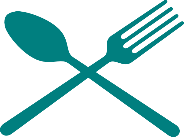 banner free library And spoon cross clip. Fork clipart