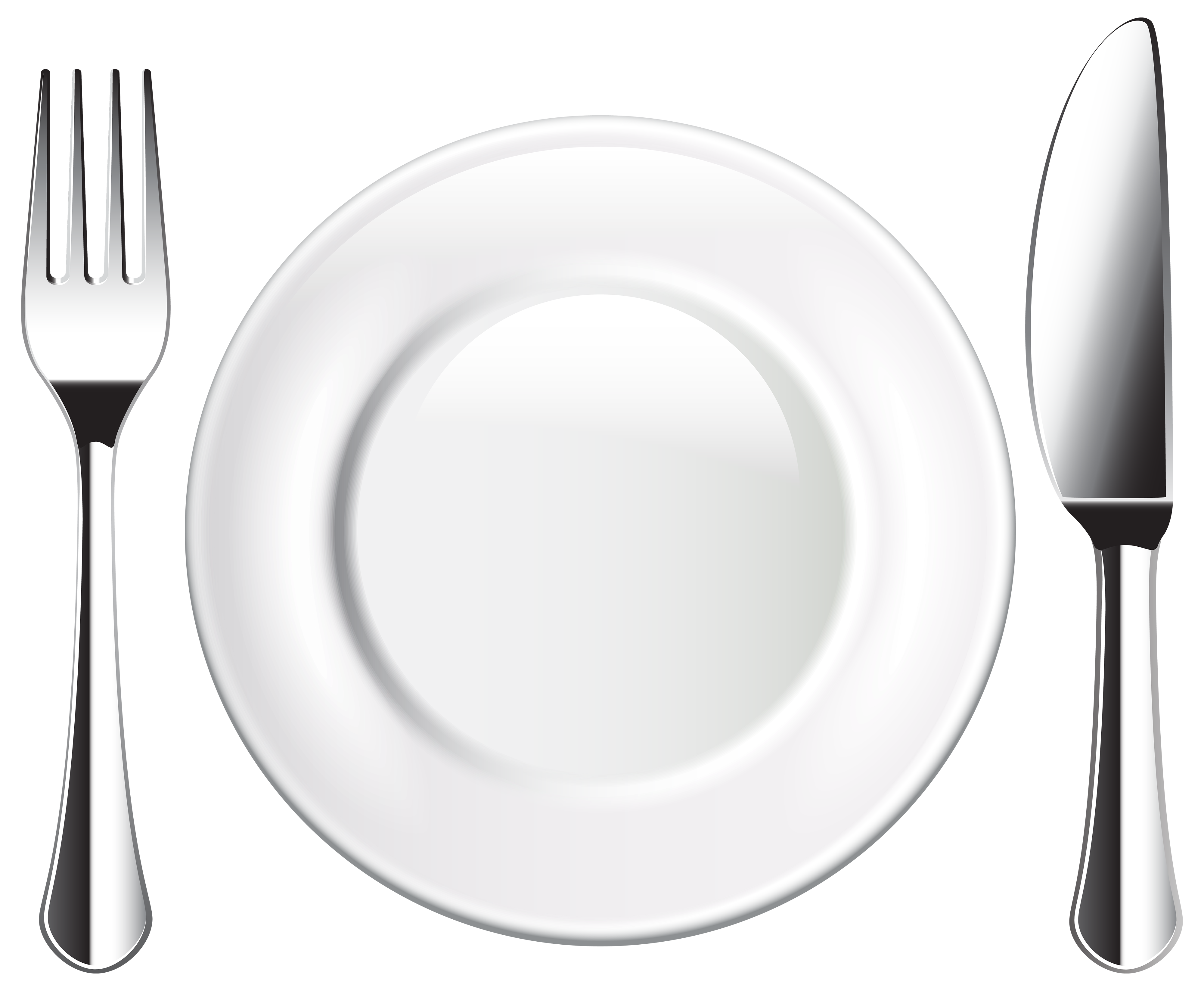 image download Plate and fork png. Hands clipart knife
