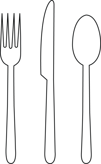 graphic free Tableware Line Art