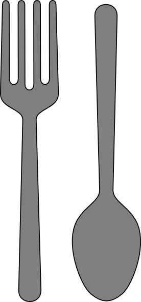 graphic transparent library Fork And Spoon Clip Art at Clker