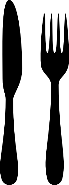clip royalty free download Png and knife transparent. Fork svg silhouette