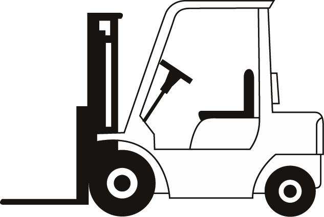 clip art freeuse library Lifts and scaffold for. Forklift clipart.